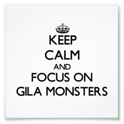 Mantenha a calma e o foco em monstro de Gila Impressão Fotográfica