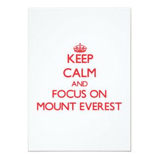 Mantenha a calma e o foco em Monte Everest Convite 12.7 X 17.78cm