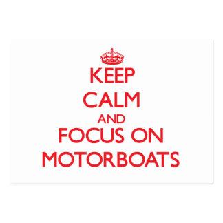 Mantenha a calma e o foco em Motorboats