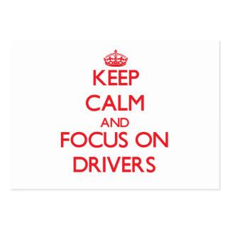 Mantenha a calma e o foco em motoristas