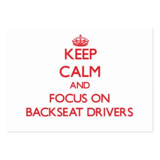 Mantenha a calma e o foco em motoristas de assento