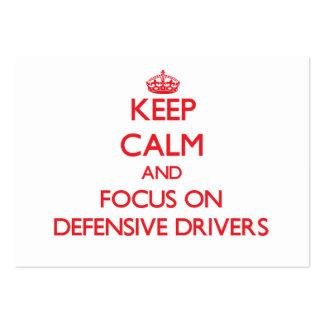 Mantenha a calma e o foco em motoristas defensivos