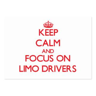Mantenha a calma e o foco em motoristas do Limo