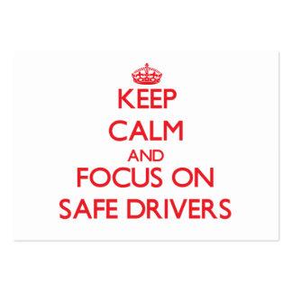 Mantenha a calma e o foco em motoristas seguros