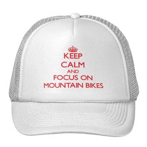 Mantenha a calma e o foco em Mountain bike Boné