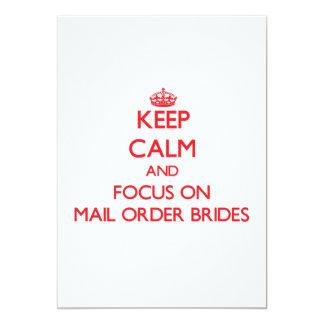 Mantenha a calma e o foco em noivas das vendas por convite