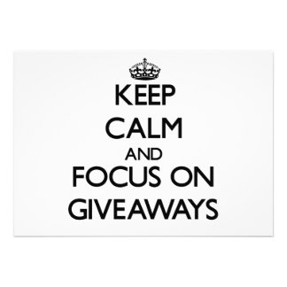Mantenha a calma e o foco em ofertas convites personalizados