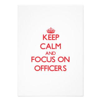 mantenha a calma E O FOCO em oficiais