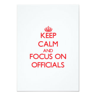mantenha a calma E O FOCO em oficiais Convite 12.7 X 17.78cm
