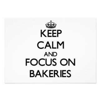 Mantenha a calma e o foco em padarias