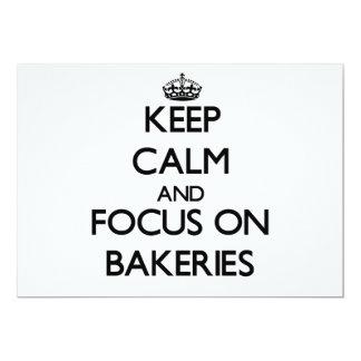 Mantenha a calma e o foco em padarias convite