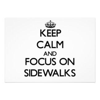 Mantenha a calma e o foco em passeios