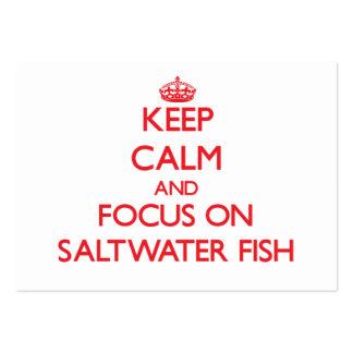 Mantenha a calma e o foco em peixes de água salgad