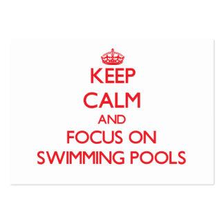 Mantenha a calma e o foco em piscinas