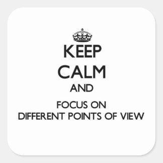 Mantenha a calma e o foco em pontos de vista difer