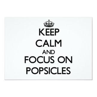 Mantenha a calma e o foco em Popsicles Convites Personalizado