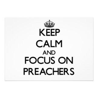 Mantenha a calma e o foco em pregadores