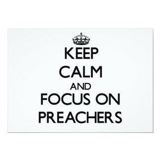Mantenha a calma e o foco em pregadores convite 12.7 x 17.78cm