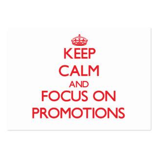 Mantenha a calma e o foco em promoções
