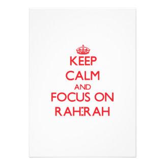 Mantenha a calma e o foco em Rah-Rah Convite