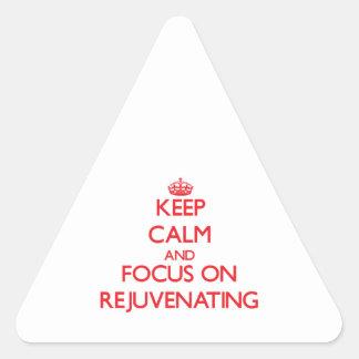 Mantenha a calma e o foco em Rejuvenating Adesivo Triangular