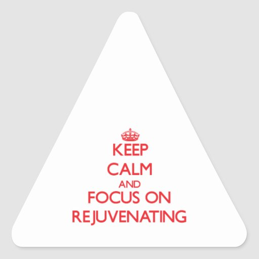 Mantenha a calma e o foco em Rejuvenating Adesivos Triângulo