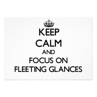 Mantenha a calma e o foco em relances breves convites