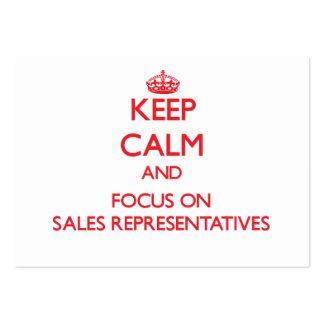 Mantenha a calma e o foco em representantes de ven