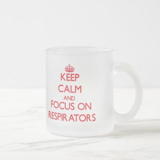 Mantenha a calma e o foco em respiradores canecas