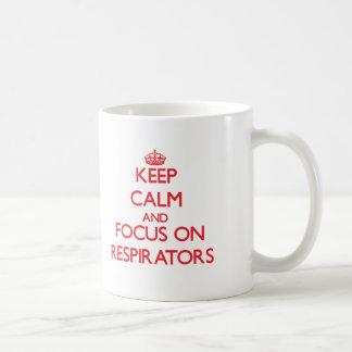 Mantenha a calma e o foco em respiradores