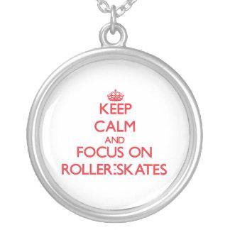 Mantenha a calma e o foco em Rolo-Skates Bijuteria