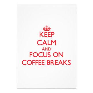 Mantenha a calma e o foco em rupturas de café convite personalizados