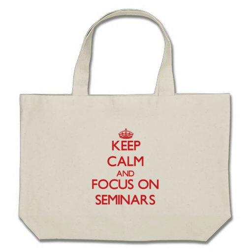 Mantenha a calma e o foco em seminários bolsa