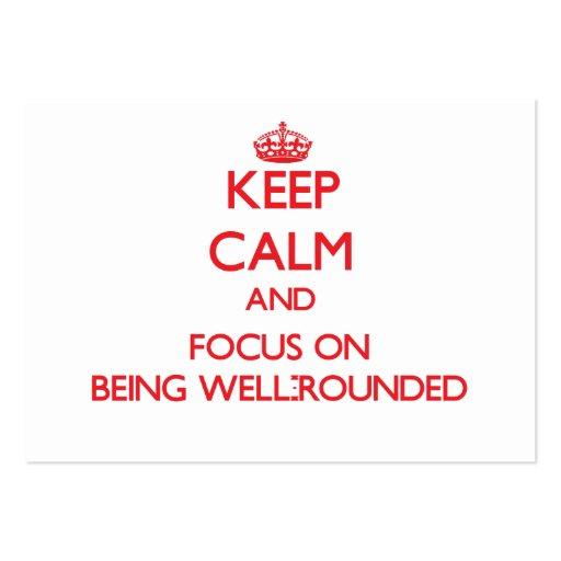 Mantenha a calma e o foco em ser total modelo cartoes de visita