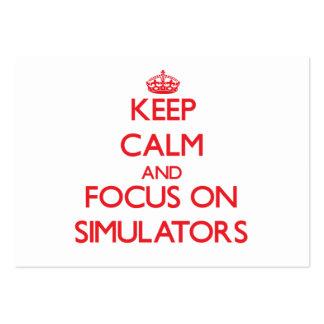 Mantenha a calma e o foco em simuladores cartão de visita