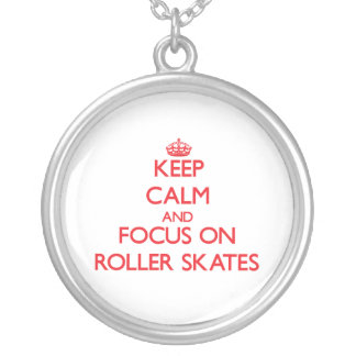 Mantenha a calma e o foco em skates de rolo bijuterias personalizadas