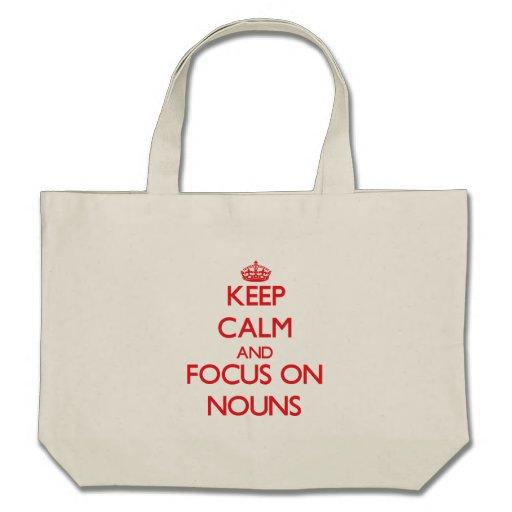 Mantenha a calma e o foco em substantivos bolsa para compras