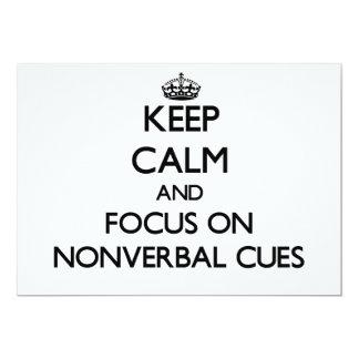 Mantenha a calma e o foco em sugestões nãos verbal convite personalizados