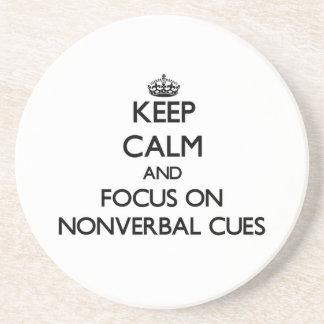 Mantenha a calma e o foco em sugestões nãos verbal