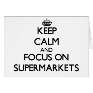 Mantenha a calma e o foco em supermercados cartão