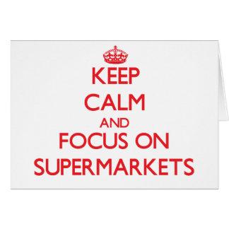 Mantenha a calma e o foco em supermercados cartao