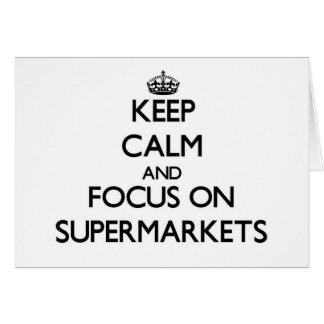 Mantenha a calma e o foco em supermercados