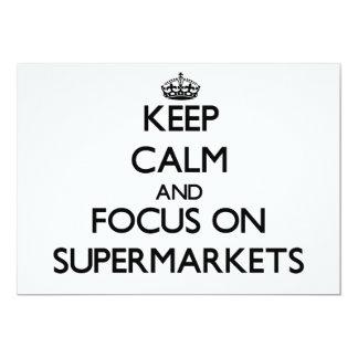 Mantenha a calma e o foco em supermercados convite