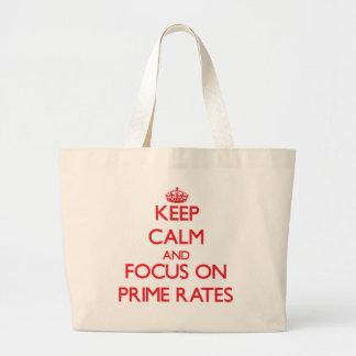 Mantenha a calma e o foco em taxas principais bolsa de lona