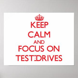 Mantenha a calma e o foco em Teste-Movimentações
