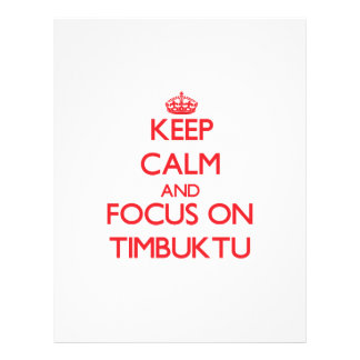 Mantenha a calma e o foco em Timbuktu Modelos De Panfleto