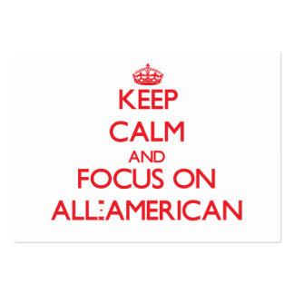Mantenha a calma e o foco em TODO-AMERICANO