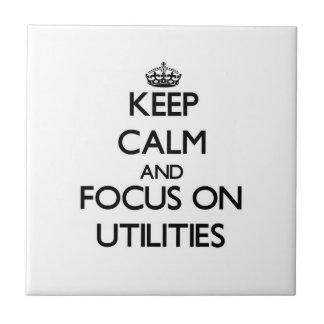 Mantenha a calma e o foco em utilidades