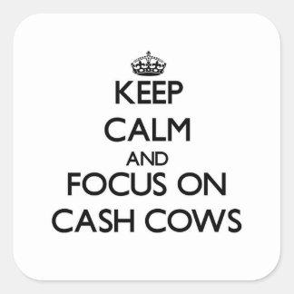 Mantenha a calma e o foco em vacas de dinheiro