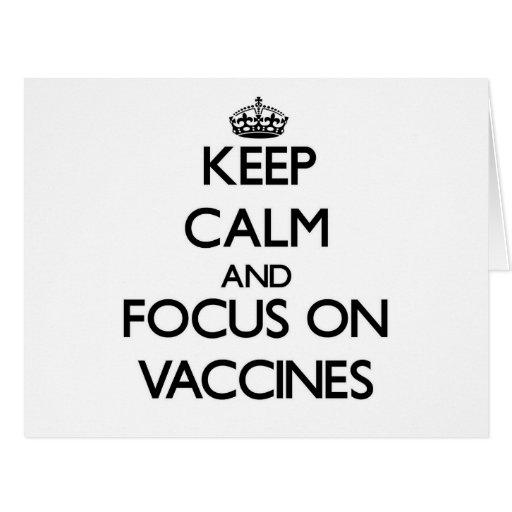Mantenha a calma e o foco em vacinas cartao